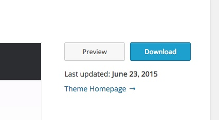 Screenshot showing last time theme was updated on WordPress.org